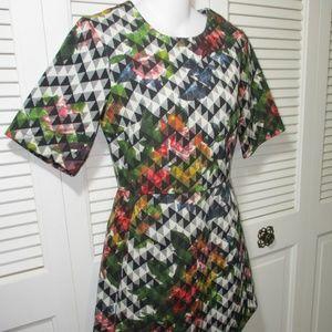 Topshop Dresses - TOPSHOP Chevron Floral Print Dress US 4